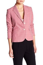 Anne Klein Hitch Peak Lapel Blazer Red
