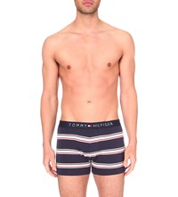 Tommy Hilfiger Icon Striped Stretch Cotton Trunks Peacoat Navy