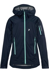 Peak Performance Aneto Stretch Shell Hooded Jacket Blue