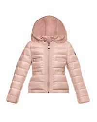 Moncler Alose Hooded Lightweight Down Puffer Coat Pink Size 8 14 Size 12