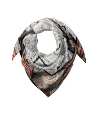 Echo Everest Paisley Silk Square Black Scarves