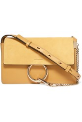 Chloe Faye Small Leather And Suede Shoulder Bag Yellow