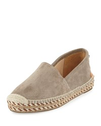 Rag And Bone Rag And Bone Noa Handmade Suede Espadrille Flat Gray Size 36.0B 6.0B