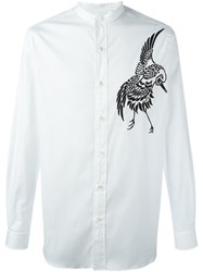 Ports 1961 Bird Embroidery Shirt White