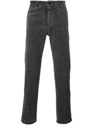 Massimo Alba Straight Trousers Grey
