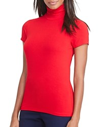 Ralph Lauren Turtleneck Short Sleeve Tee Brilliant Red