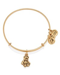 Alex And Ani Little Brown Bear Expandable Wire Bangle Charity By Design Collection Bloomingdale's Exclusive Rafaelian Gold