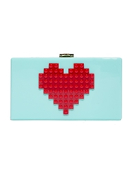 Pixie Market Heart Lego Mint Clutch