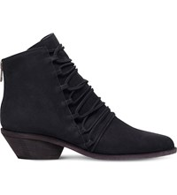 Ld Tuttle The Crag Lace Up Leather Ankle Boots Black