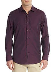 Report Collection Regular Fit Dotted Cotton Sportshirt Purple