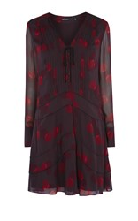 Karen Millen Geo Print Shirt Dress Multicolour