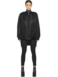 Diesel Black Gold Long Nylon Bomber Jacket