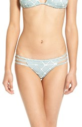 Women's Rvca 'Crystalized' Strappy Bikini Bottoms