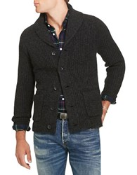 Polo Ralph Lauren Wool And Cashmere Shawl Cardigan Grey