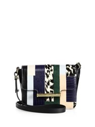 Jason Wu Diane Petite Leather And Calf Hair Shoulder Bag Multi