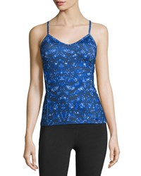 Alo Yoga Lure V Neck Performance Tank Kaleidoscope Print