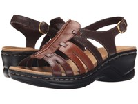 Clarks Lexi Marigold Q Brown Multi Leather Women's Sandals