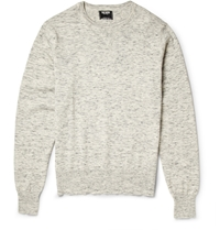 Todd Snyder Melange Cotton And Linen Blend Sweatshirt Gray