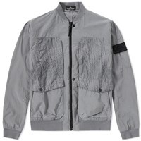 Stone Island Shadow Project Tela Nylon Bomber Jacket Grey