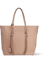 Tod's Gipsy Medium Textured Leather Tote Beige