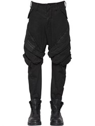 Julius Stretch Cotton Denim Cargo Pants