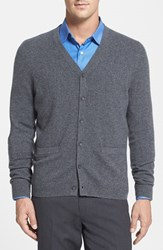 Men's Big And Tall Nordstrom Cashmere Cardigan Grey Castlerock