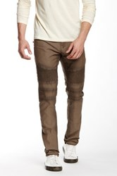 Rogue Genuine Leather Trim Moto Pant Brown