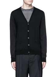Lanvin Mixed Media Cardigan Black