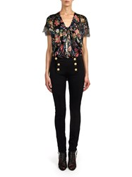 Alexis Mabille Sailor Style Slim Pants In Black Jersey