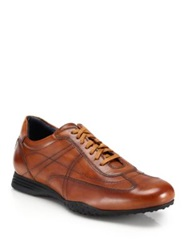 Cole Haan Granada Leather Sport Oxford Sneakers Tan