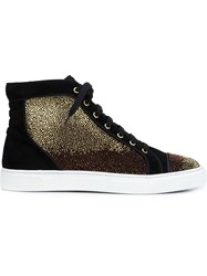 Louis Leeman Crystal Embellished Hi Tops Black