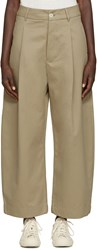 Studio Nicholson Khaki Wide Leg Bonnard Trousers