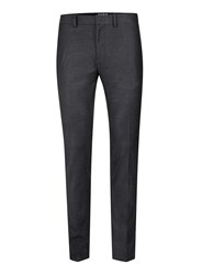 Topman Grey Charcoal Check Ultra Skinny Fit Suit Trousers