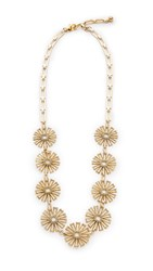 Lulu Frost Daisy Long Necklace Antique Gold Antique Silver