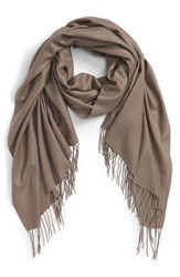 Women's Nordstrom Tissue Weight Wool And Cashmere Scarf Brown Brown Falcon