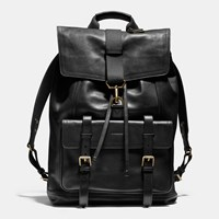 Coach Bleecker Backpack In Leather Black