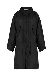 Katharine Hamnett At Ymc Padded Silk Parka Black