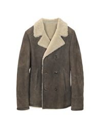 Forzieri Double Breasted Shearling Jacket Brown