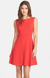 French Connection 'Feather Ruth' Fit And Flare Dress Royal Scarlet
