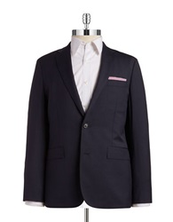 Brooks Brothers Red Fleece Two Button Wool Blazer Navy