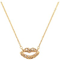Cachet Pout Swarovski Crystal Pendant Necklace Rose Gold