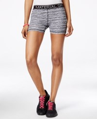 Material Girl Active Juniors' Printed Pull On Shorts Only At Macy's Classic Black