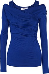 Bailey 44 Ride Wrap Effect Jersey Top Royal Blue