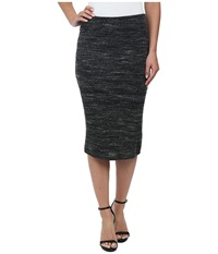 Lna Pernille Fitted Skirt Heather Black Women's Skirt
