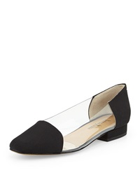 Neiman Marcus Frances Two Tone Flat Black Clear