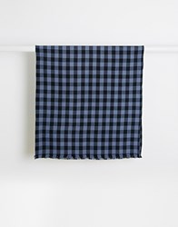 Jack Wills Scotney Check Scarf Navy