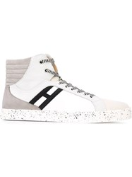 Hogan Rebel Panelled Hi Top Sneakers White