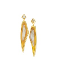 Himalayan Headdress Earrings With Natural Horn Maiyet