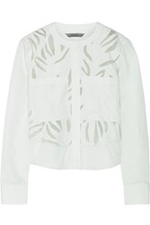 Maiyet Appliqued Cotton Top Green