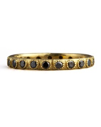 Armenta Pave Black Diamond Ring Black 5.5